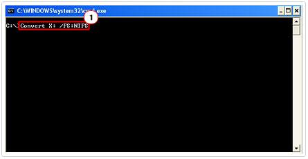 Convert Drive To NTFS