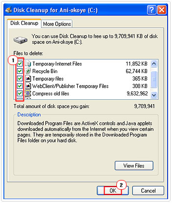 Disk Cleanup Files To Delete