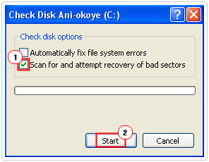 Scan Drive For Bad Sectors