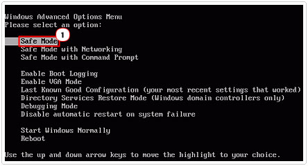 Safe Mode Advanced Boot Option