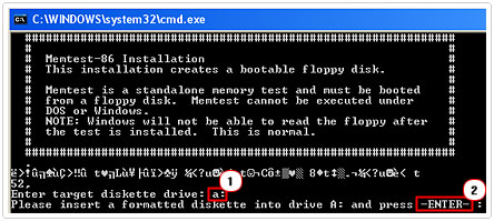 Enter target diskette drive for program