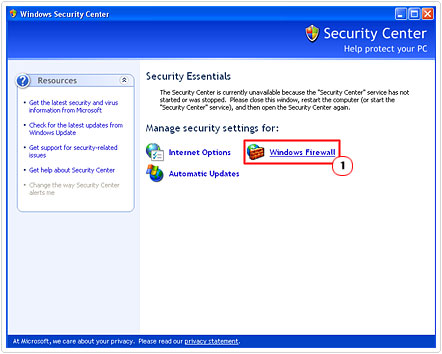 Click on Windows Firewall