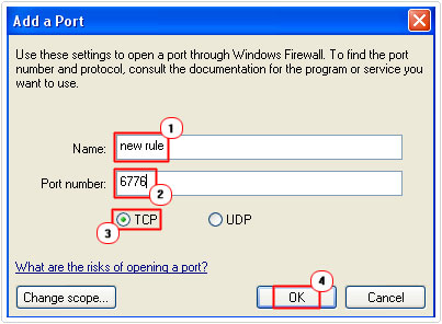 Add Port Exception