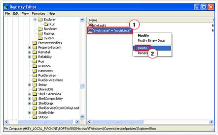 Remove virus nvctrl.exe