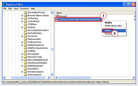 Delete registry key 724510C3-F3C8-4FB7-879A-D99F29008A2F
