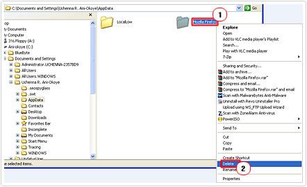 remove data folder