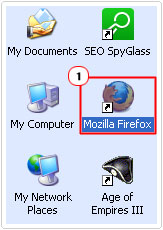 click on Firefox Icon