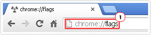 run Chrome://flags