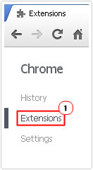 Access Extensions page