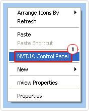 Click on NVIDIA Control Panel