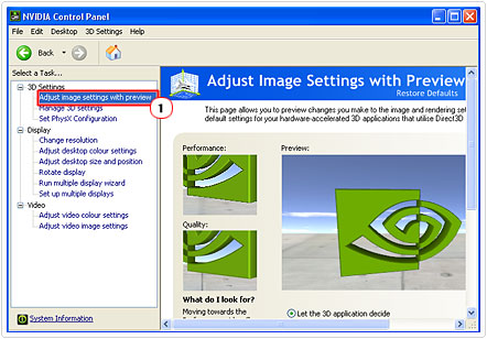 Enter Adjust image settings