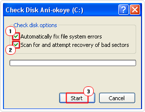 select error checking options