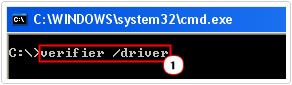 Run Verifier /Driver command