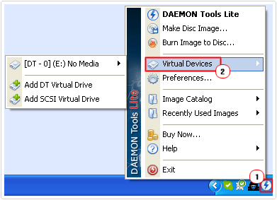 select virtual devices