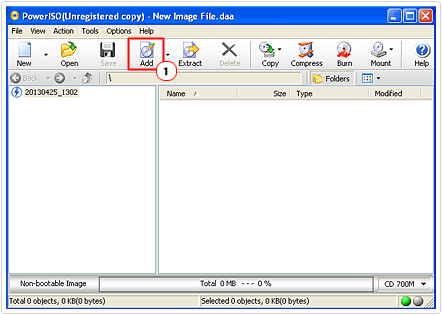 add files and folders to iso
