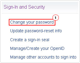 change password of email