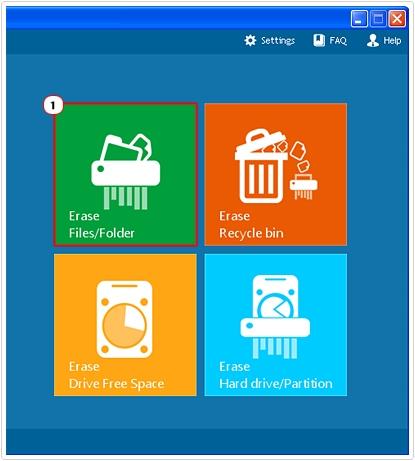 File eraser -> Erase file/folder
