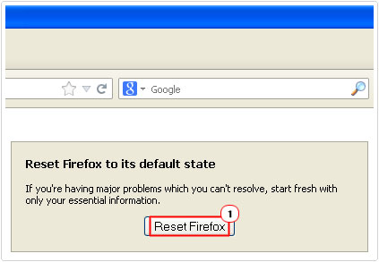 reset firefox button