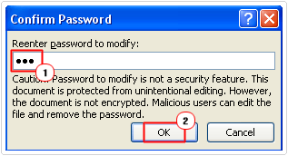 reenter modify password
