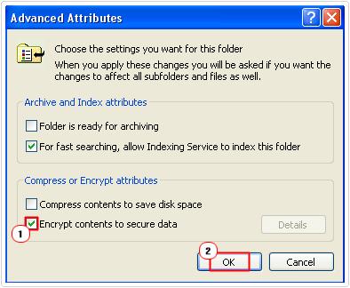select Encrypt data