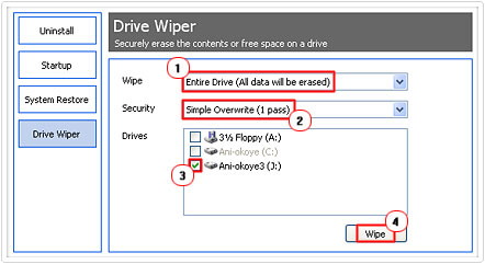 wipe entire hard drive