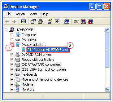 Locate device on device manager