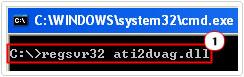 Register new ati2dvag.dll file