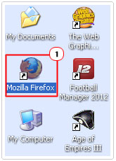 Double click on Firefox icon