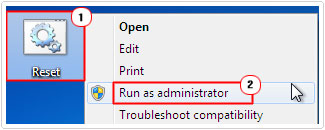 Click on File Run as administrator