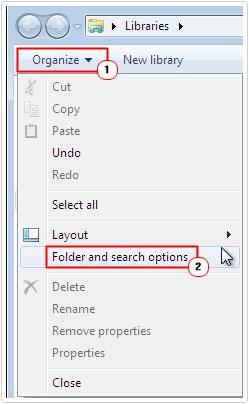 Access Folder Options