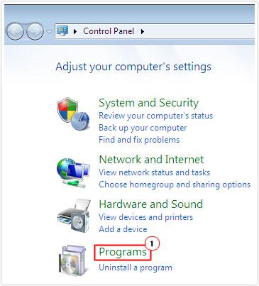 Access Programs Option