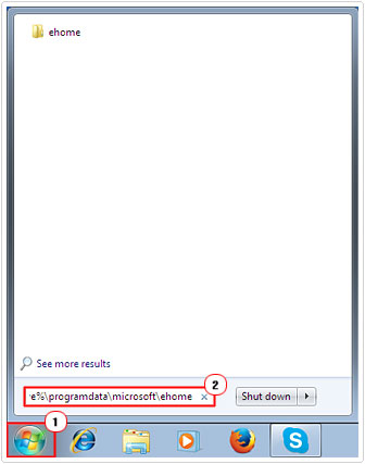Open eHome Folder