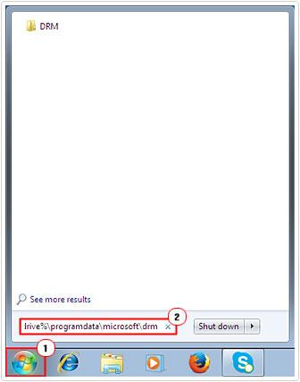 Access DRM Cache folder