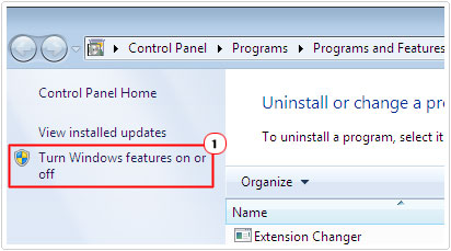 Load Turn Windows features on or off