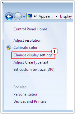 Click on Change Display Settings