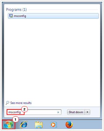 Start System configuration utility