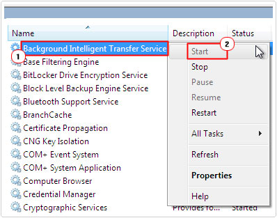 Locate Background Intelligent Transfer Service