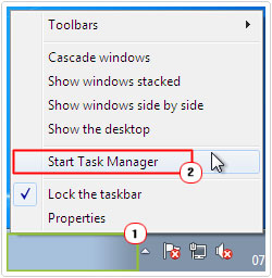 open windows task manager