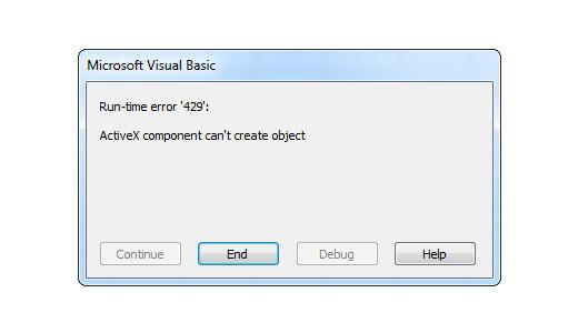 Runtime Error 429