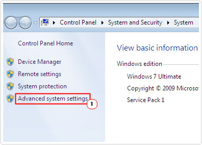 Access Advanced System Settings