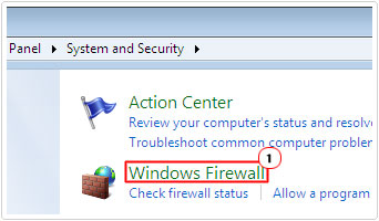 Start Windows Firewall