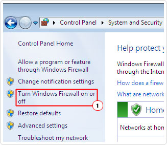 Select turn windows firewall on or off