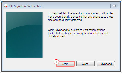 File Signature Verification -> Click on Start