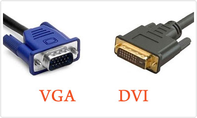 DVI and VGA Cable Types