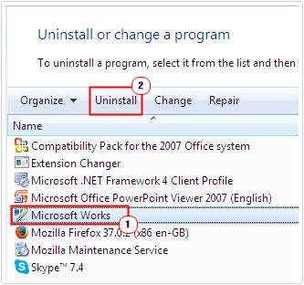 Select Drivers/Programs -> Uninstall