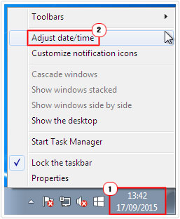 Time -> select Adjust Date/Time