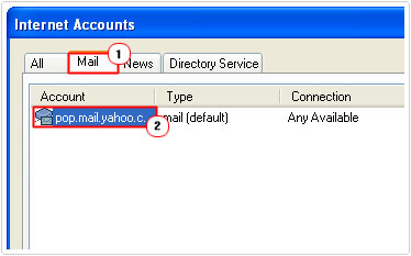 Outlook -> Mail -> Account