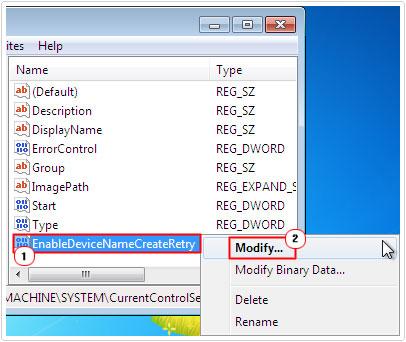 EnableDeviceNameCreateRetry -> Modify