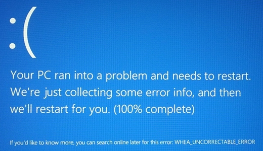 how to fix the whea uncorrectable error