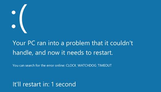 CLOCK_WATCHDOG_TIMEOUT